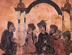 Maqamas de al-Hariri. Reunión de alfaquíes musulmanes