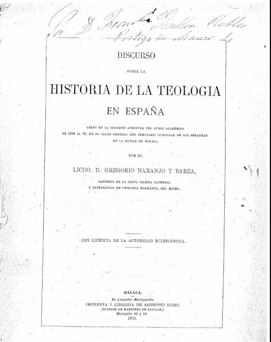 TEOLOGIA ESPAÑOLA.-.-.-